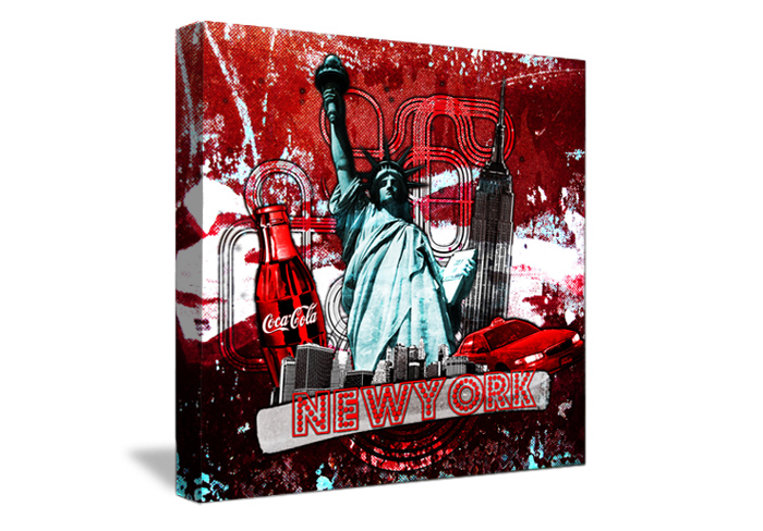 Tableau wild red de new york monpopart - Tableau de new york ...