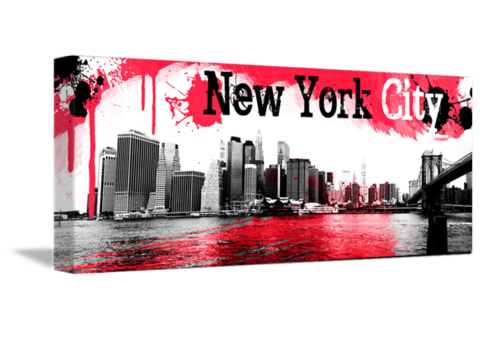 tableau pano red de new york monpopart. Black Bedroom Furniture Sets. Home Design Ideas