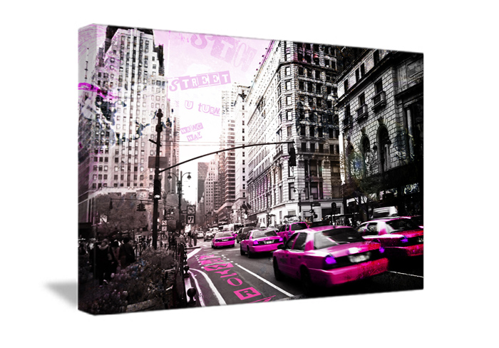 Tableau street soft de new york monpopart for Decoration maison new york