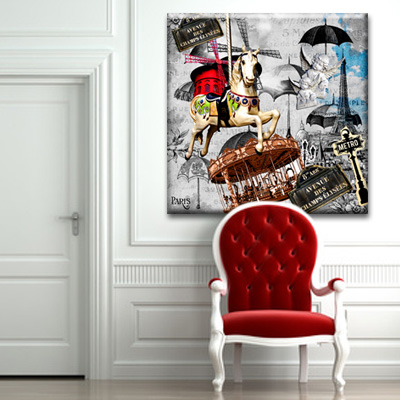 tableau paris en folie monpopart. Black Bedroom Furniture Sets. Home Design Ideas