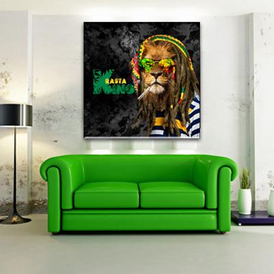 Tableau Rasta King | Monpopart