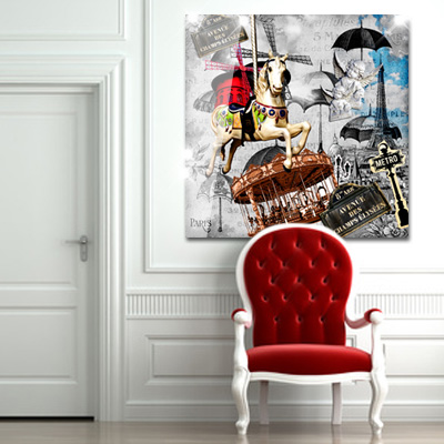 tableau plexiglas paris en folie monpopart. Black Bedroom Furniture Sets. Home Design Ideas