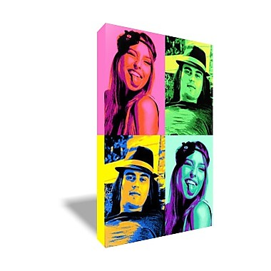 tableau pop art style andy warhol vertical 2 4 photos monpopart. Black Bedroom Furniture Sets. Home Design Ideas