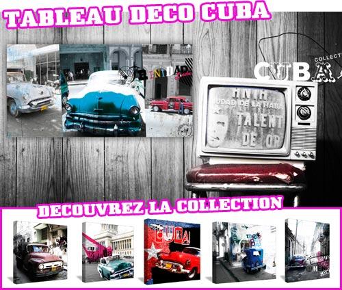 Tableau décoration style rétro Cuba