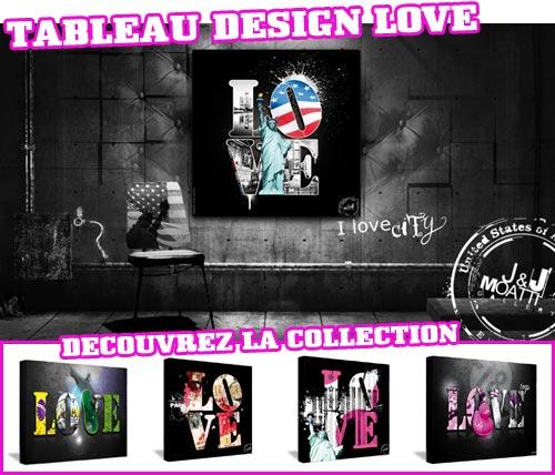 Tableau décoration design Love