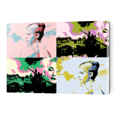 Photo sur plexiglas style andy warhol horizontal 2 à 4 photos